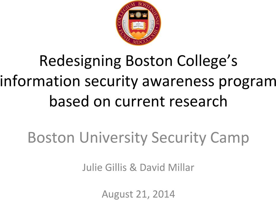 current research Boston University