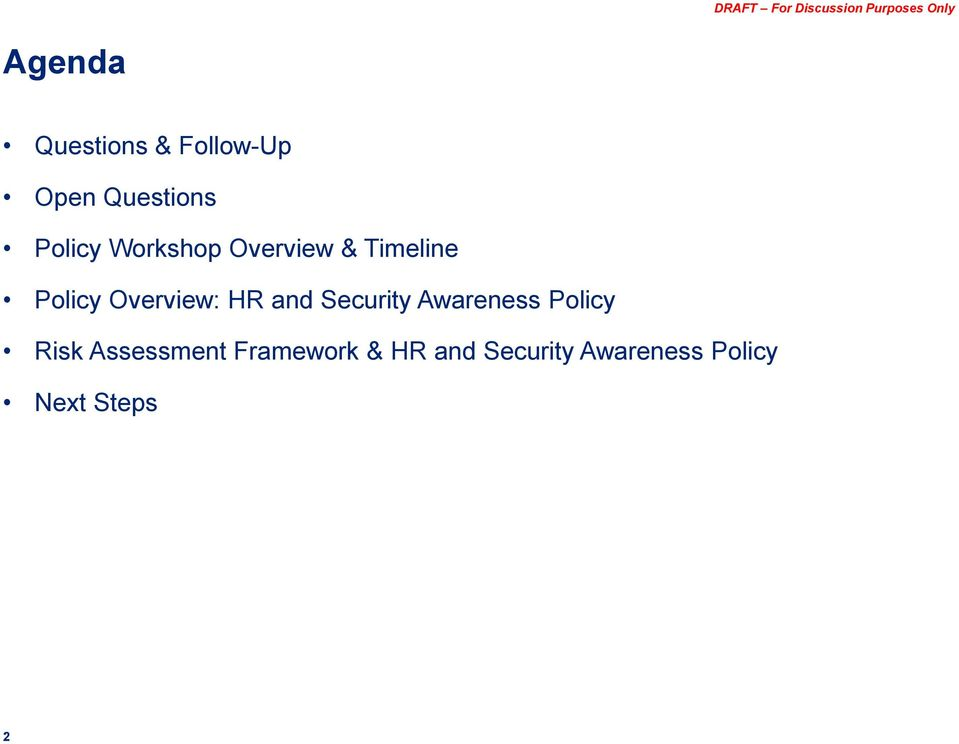 and Security Awareness Policy Risk Assessment
