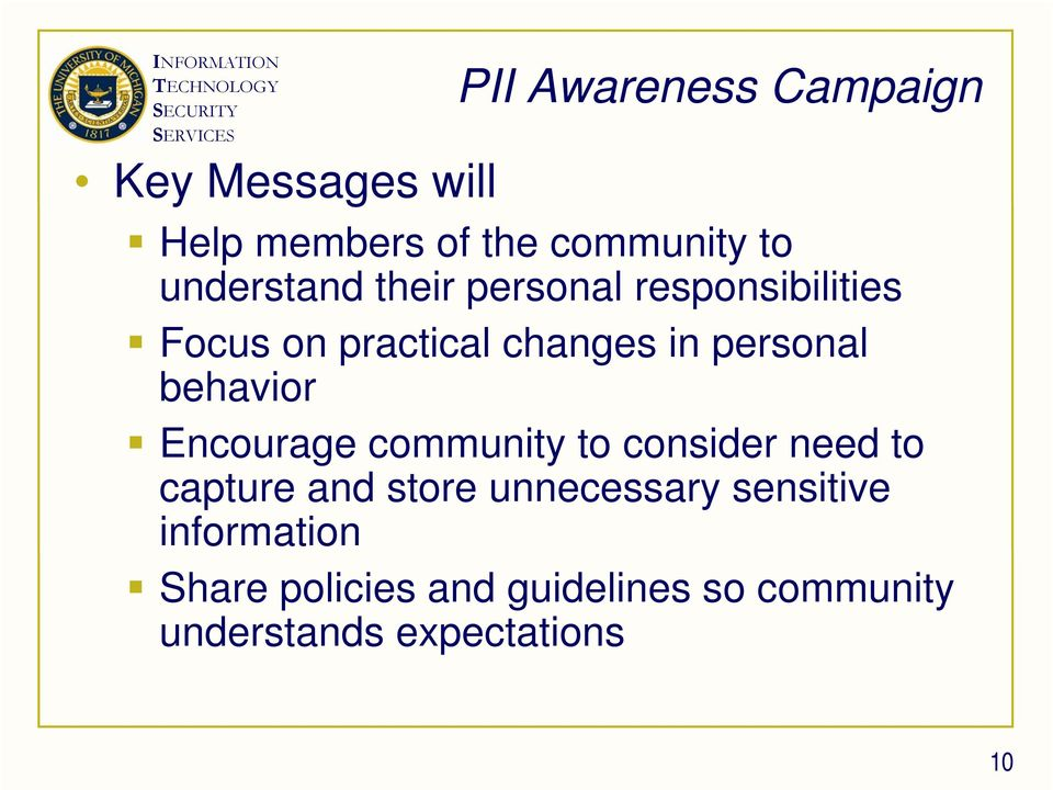 behavior Encourage community to consider need to capture and store unnecessary