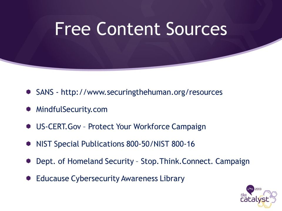Gov Protect Your Workforce Campaign NIST Special Publications