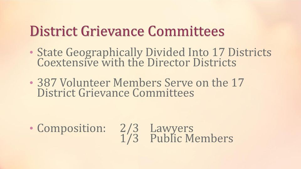 Districts 387 Volunteer Members Serve on the 17 District