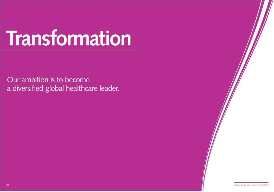 global healthcare leader.