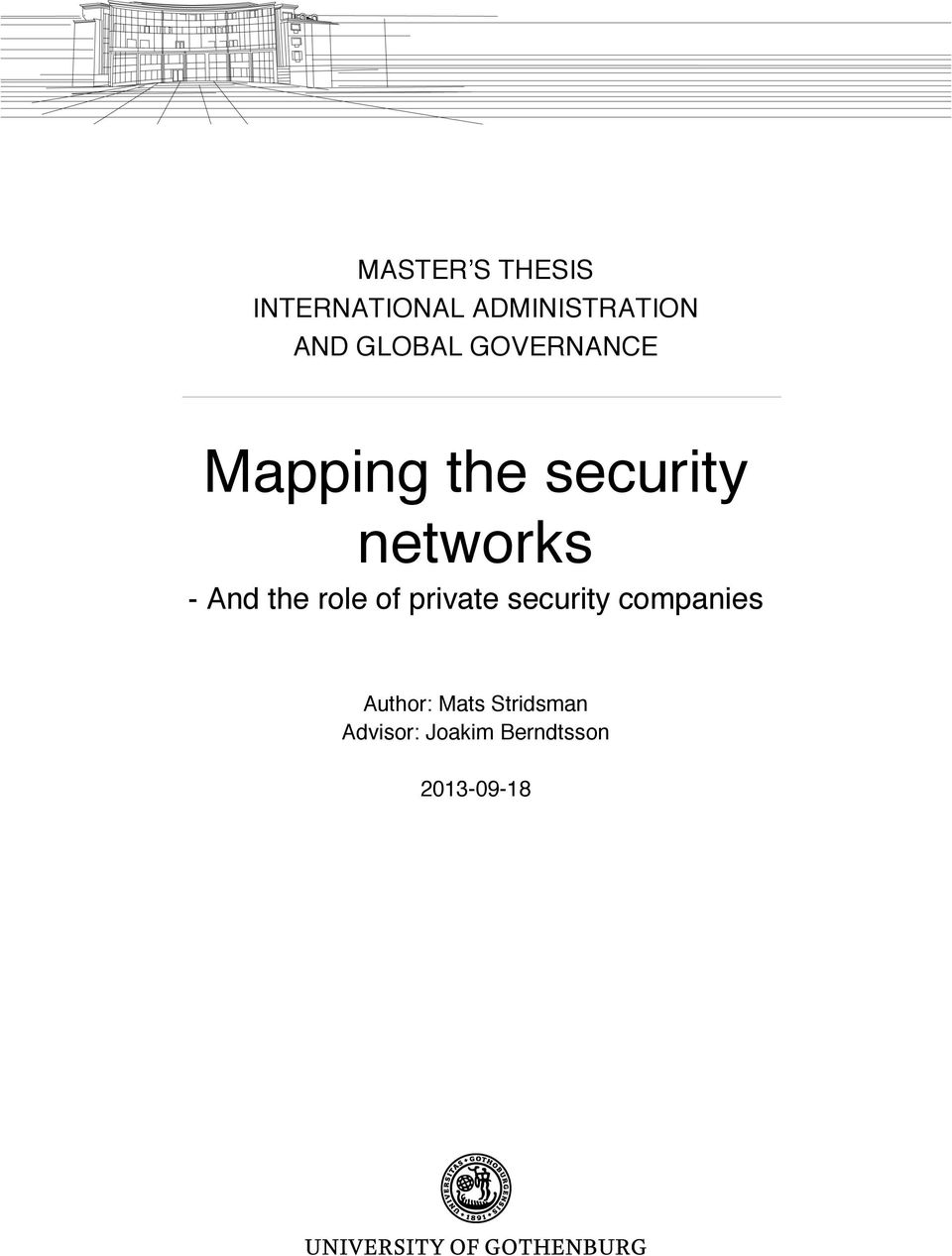 And the role of private security companies Author: