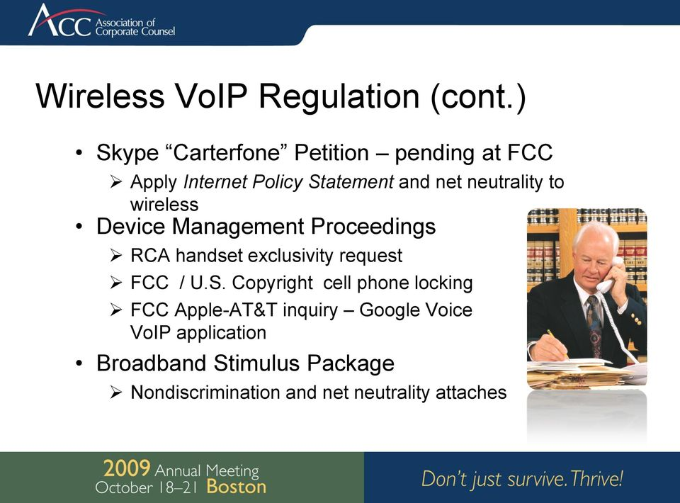 neutrality to wireless Device Management Proceedings RCA handset exclusivity request FCC /