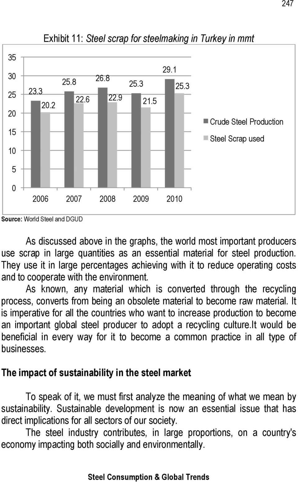 as an essential material for steel production. They use it in large percentages achieving with it to reduce operating costs and to cooperate with the environment.