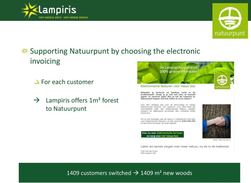 Lampiris offers 1m² forest to