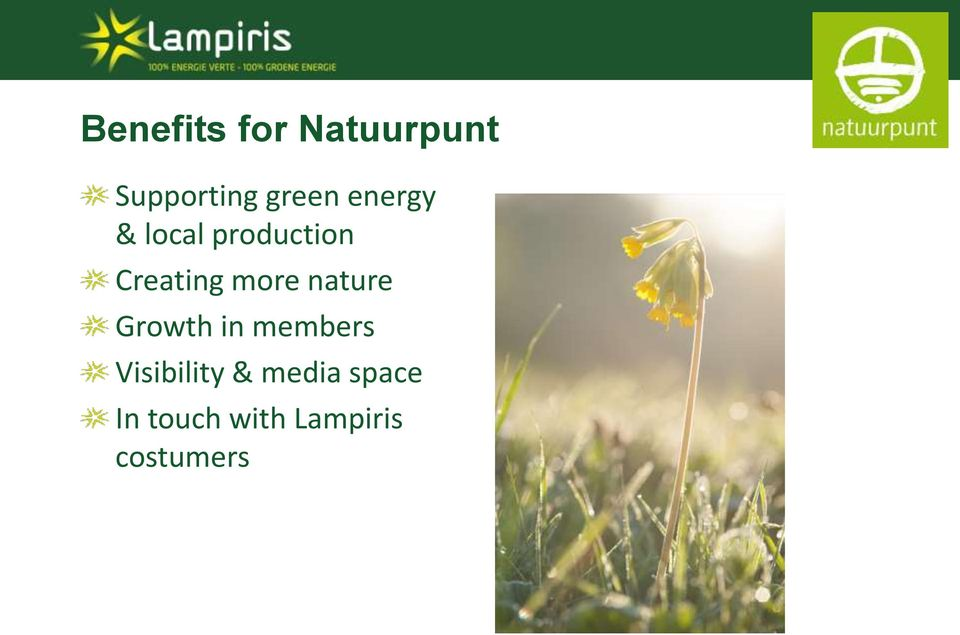 nature Growth in members Visibility &