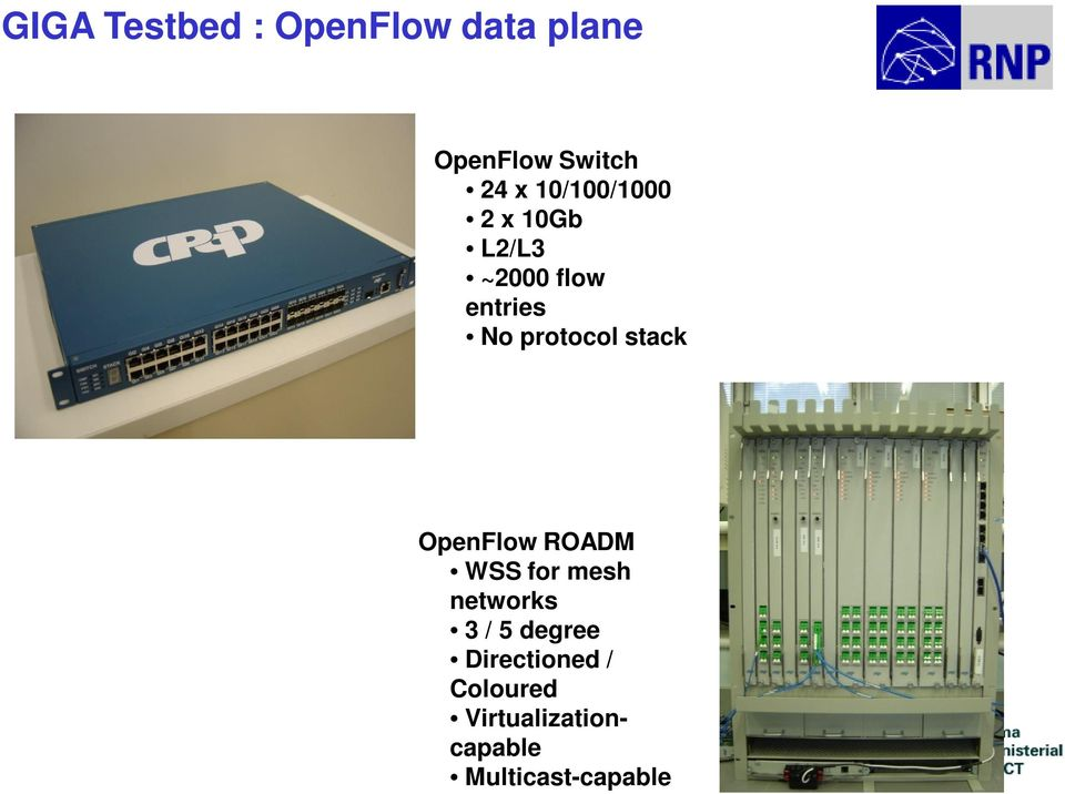 stack OpenFlow ROADM WSS for mesh networks 3 / 5 degree
