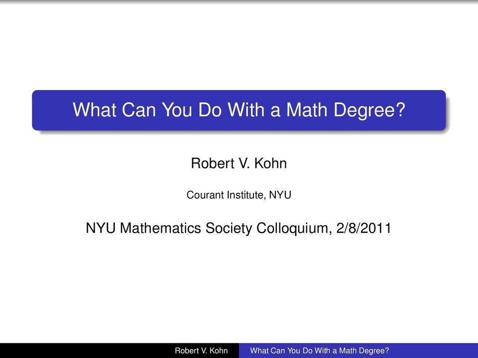 NYU Mathematics