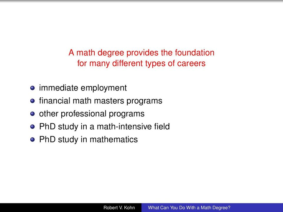 financial math masters programs other professional