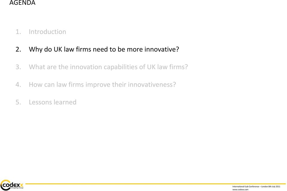 What are the innovation capabilities of UK law
