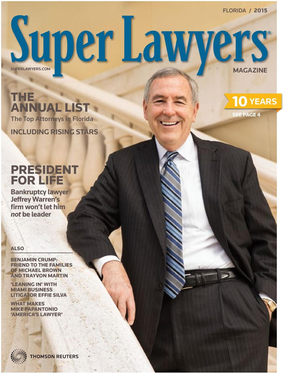 STARS PRESIDENT FOR LIFE Bankruptcy lawyer Jeffrey Warren s firm won t let him not be leader ALSO