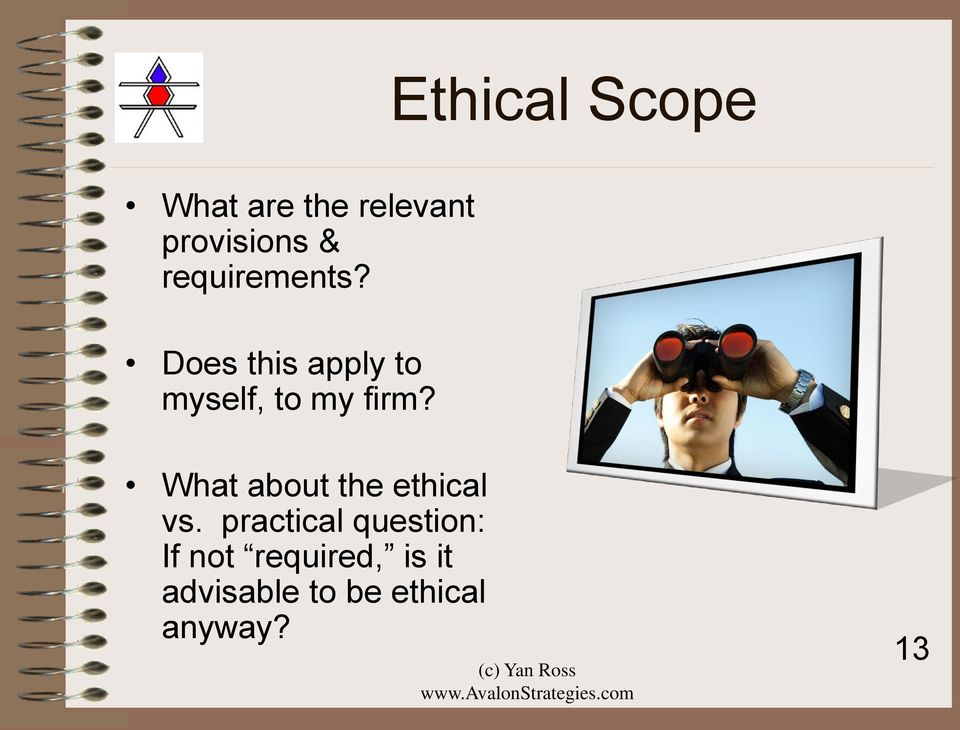 What about the ethical vs.