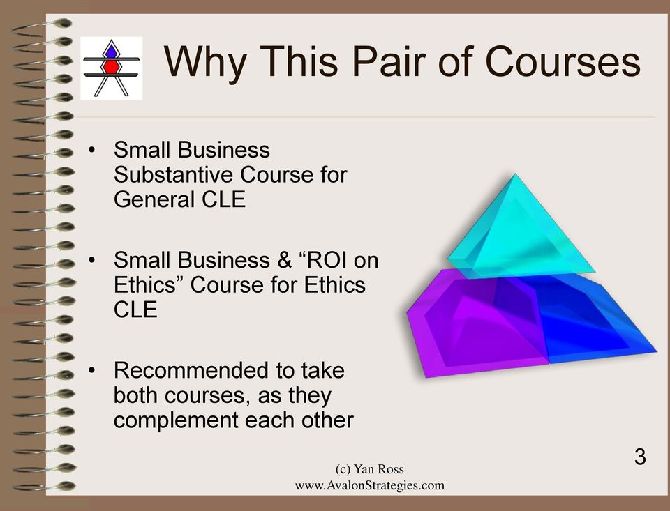 Business & ROI on Ethics Course for Ethics CLE