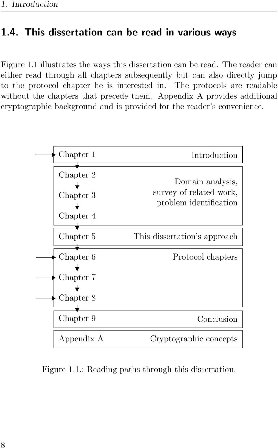The protocols are readable without the chapters that precede them. Appendix A provides additional cryptographic background and is provided for the reader s convenience.