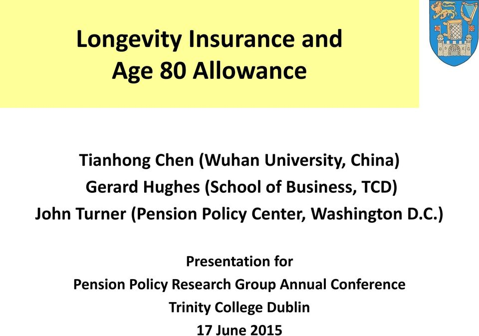 Turner (Pension Policy Ce