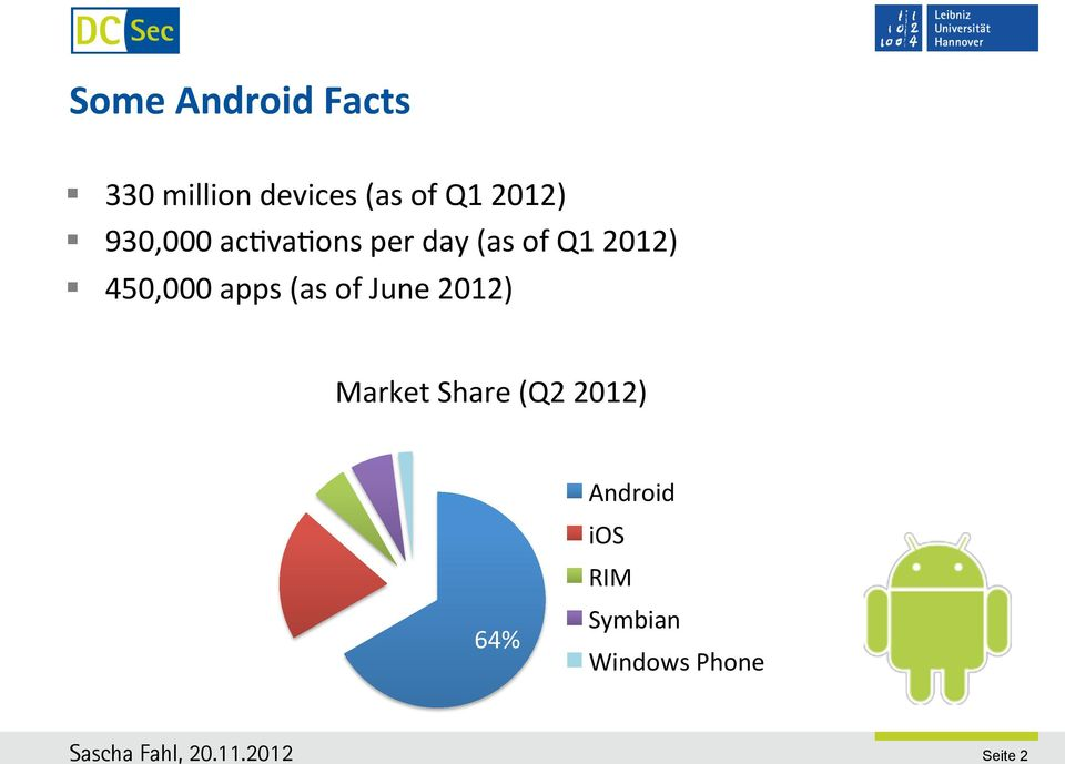 450,000 apps (as of June 2012) Market Share (Q2
