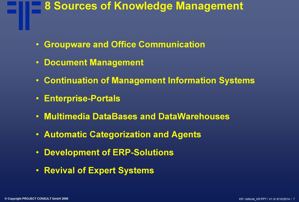 DataWarehouses Automatic Categorization and Agents Development of ERP-Solutions Revival of