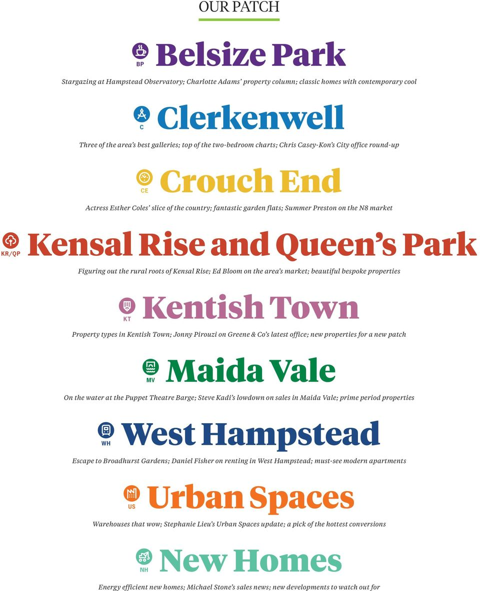 s Park Figuring out the rural roots of Kensal Rise; Ed Bloom on the area s market; beautiful bespoke properties KT Kentish Town Property types in Kentish Town; Jonny Pirouzi on Greene & Co s latest