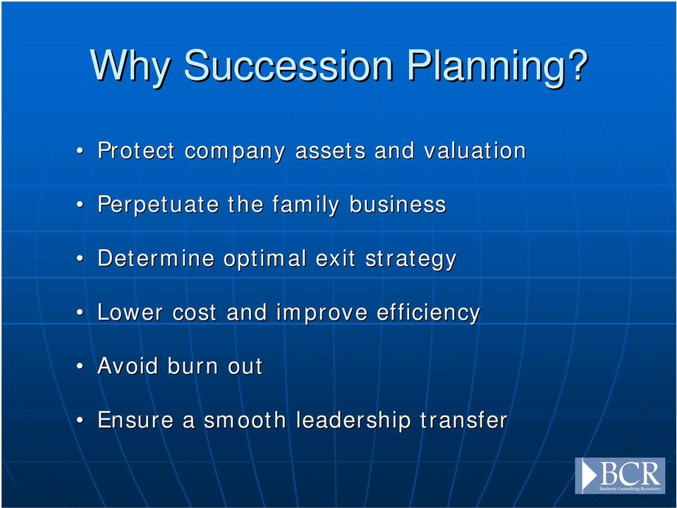 family business Determine optimal exit strategy
