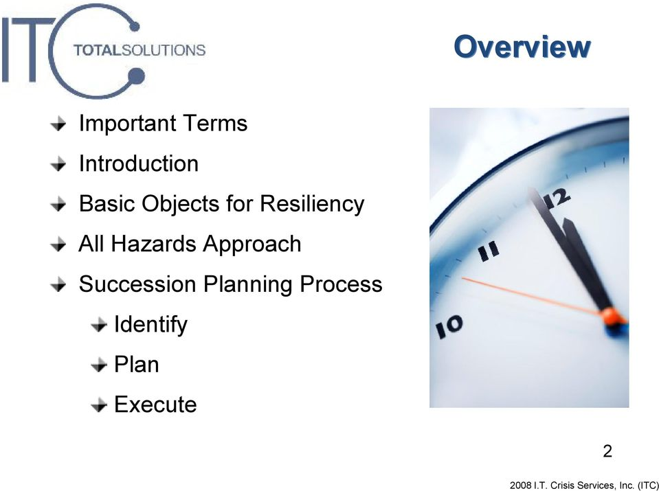 Resiliency All Hazards Approach