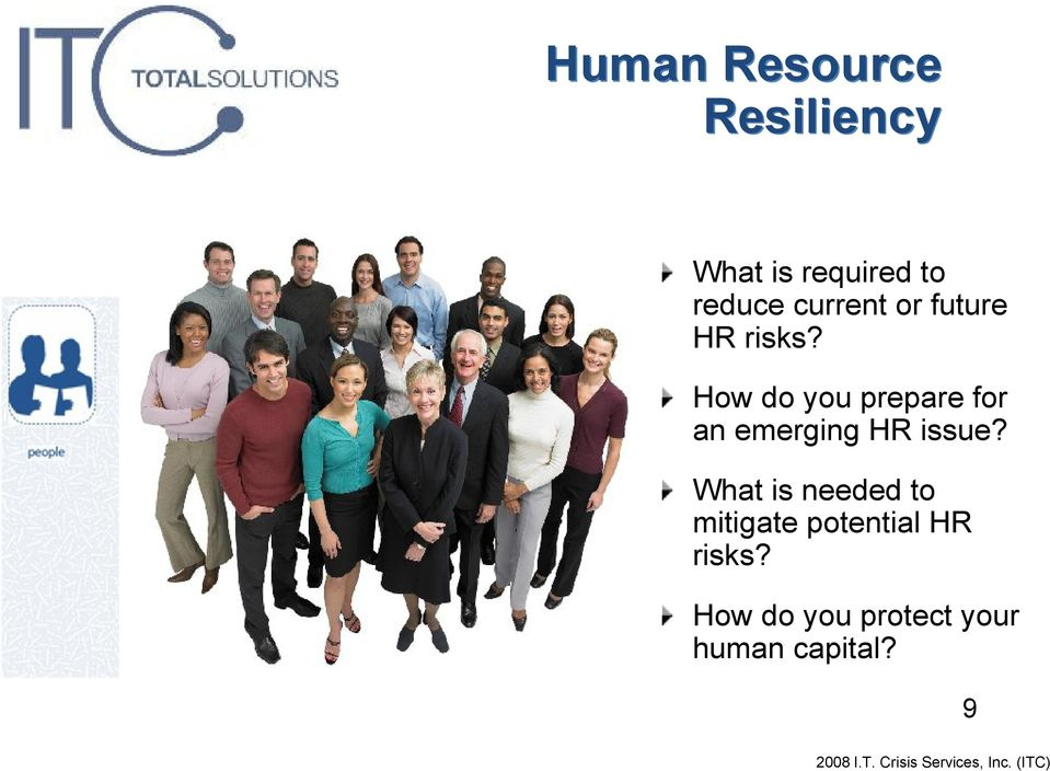 How do you prepare for an emerging HR issue?
