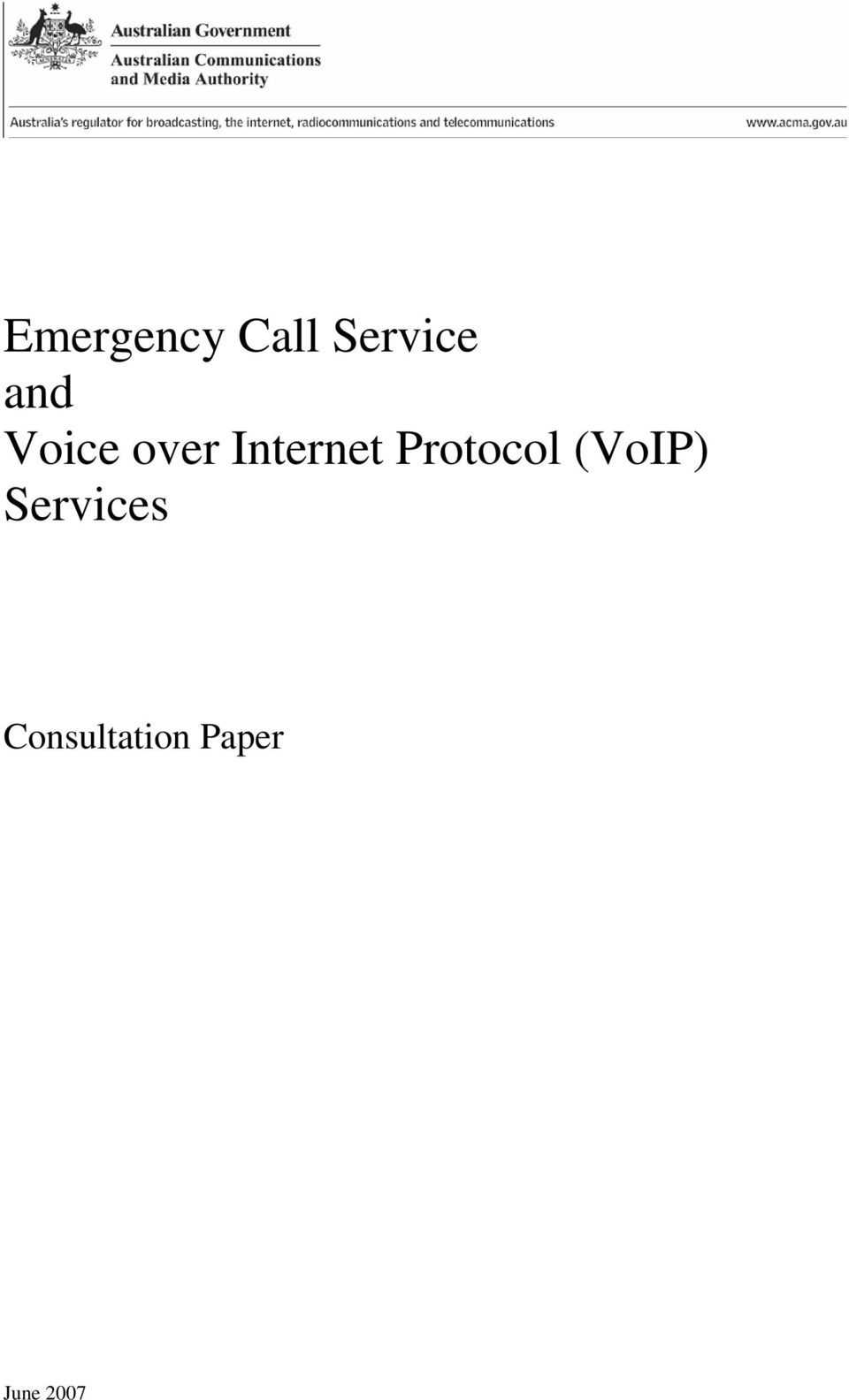 Protocol (VoIP) Services
