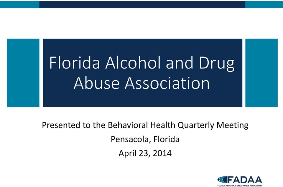 Behavioral Health Quarterly