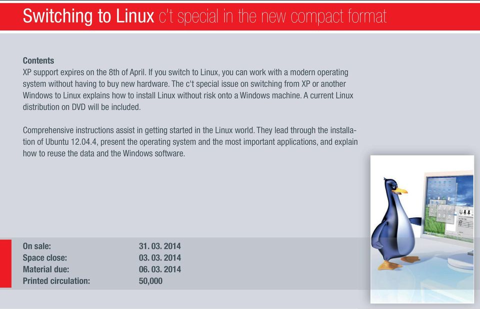 The c't special issue on switching from XP or another Windows to Linux explains how to install Linux without risk onto a Windows machine.