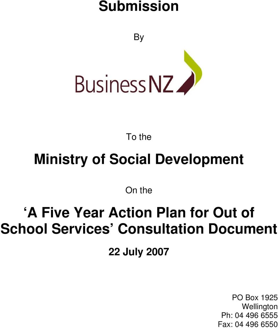 Out of School Services Consultation Document 22