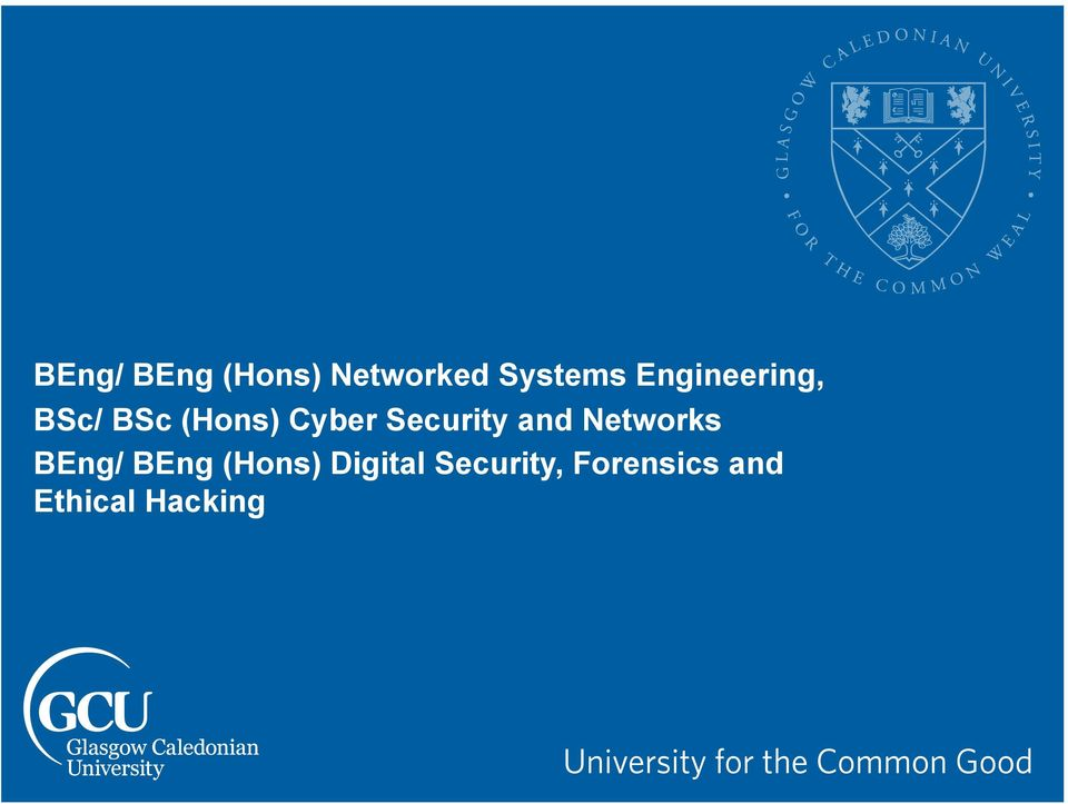 Security and Networks BEng/ BEng (Hons)