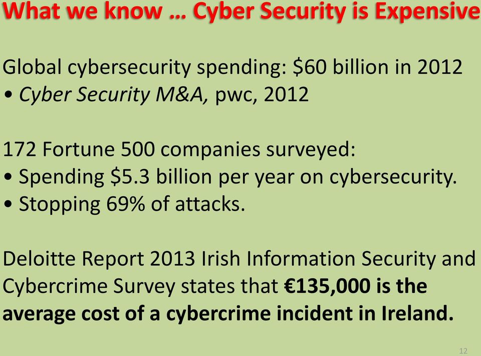 3 billion per year on cybersecurity. Stopping 69% of attacks.