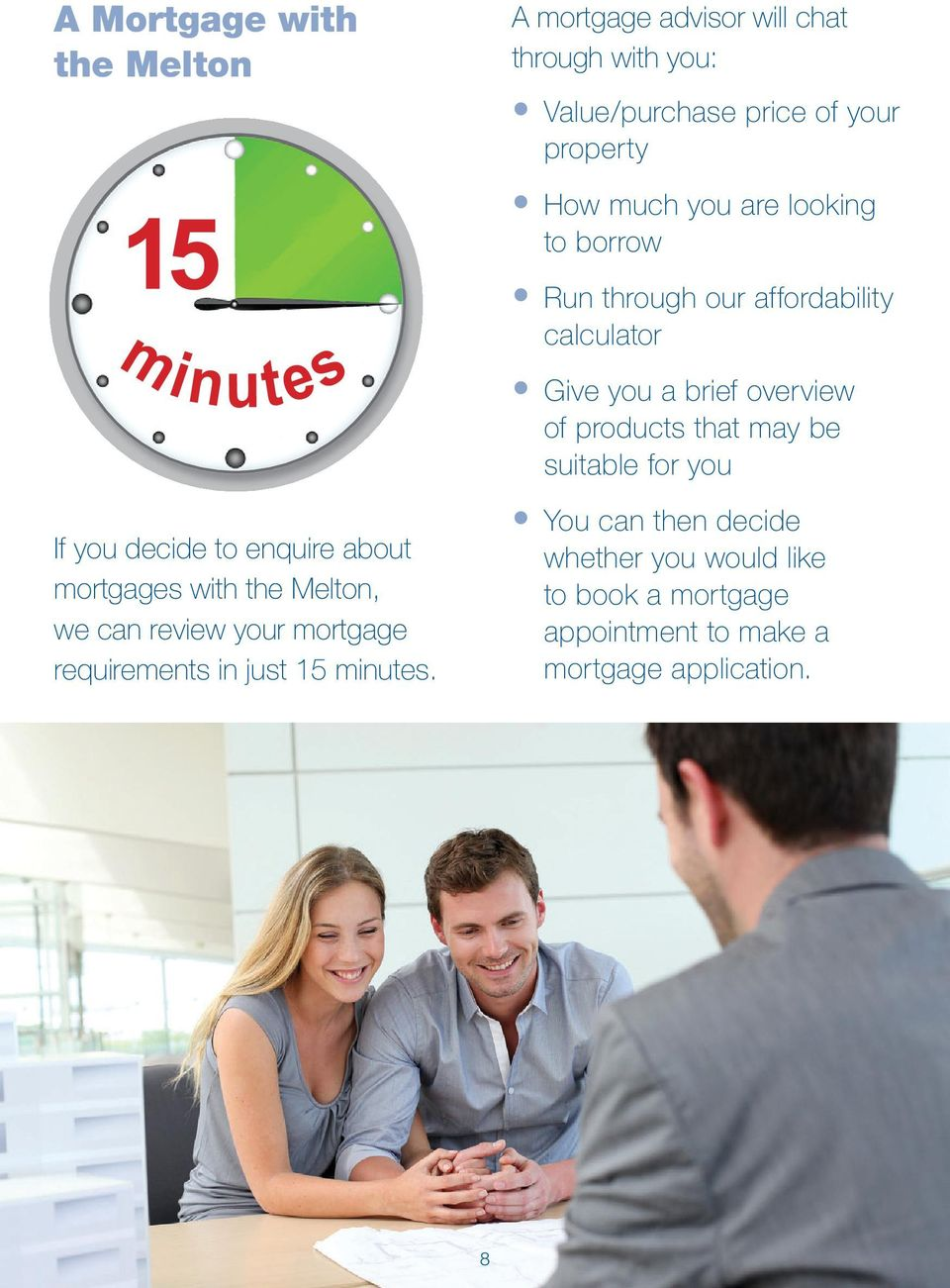 suitable for you If you decide to enquire about mortgages with the Melton, we can review your mortgage requirements in