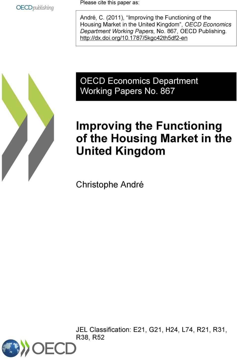 Working Papers, No. 867, OECD Publishing. http://dx.doi.org/10.