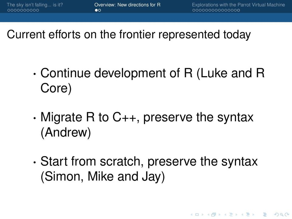 Migrate R to C++, preserve the syntax (Andrew)