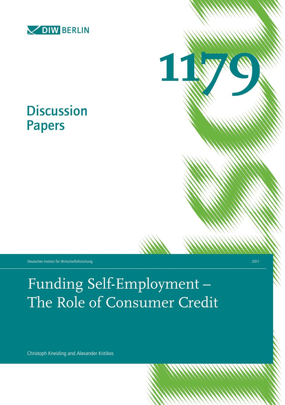 Self-Employment The Role of Consumer