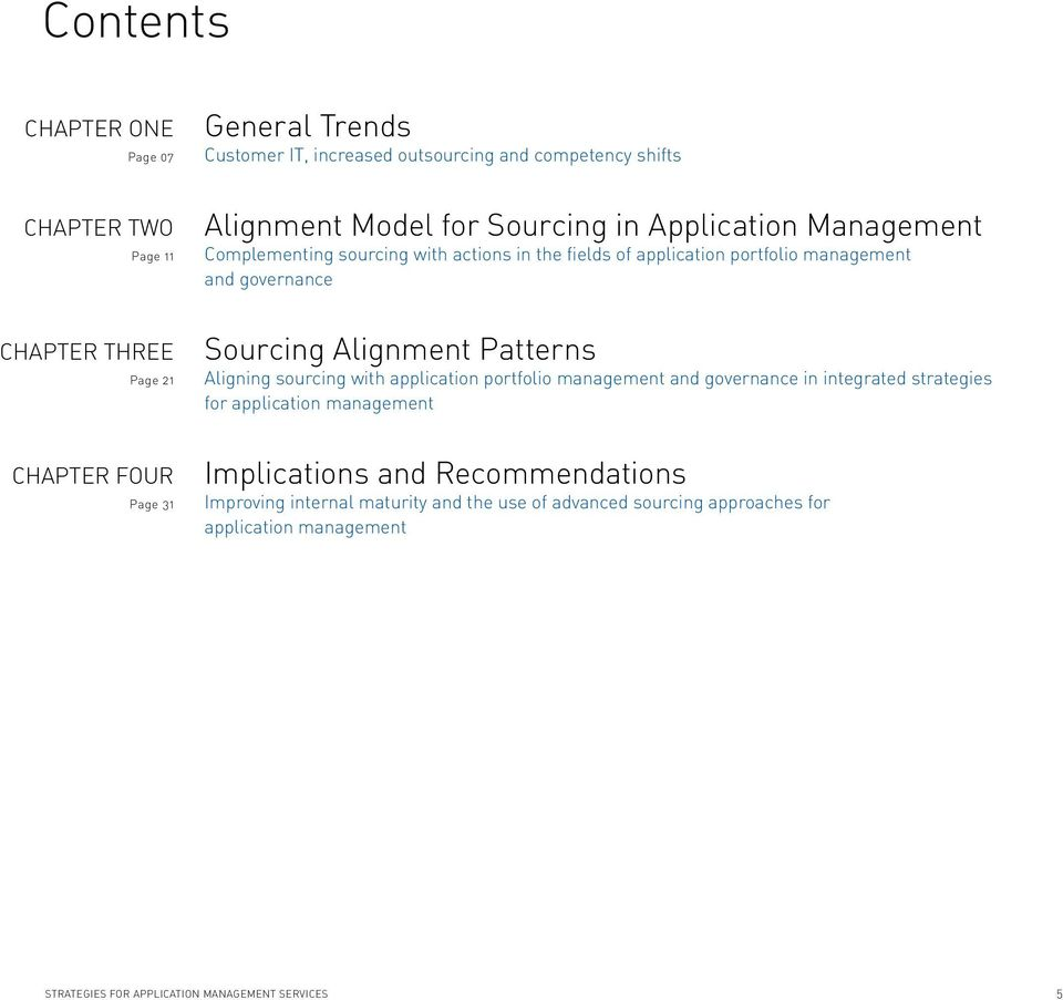 Sourcing Alignment Patterns Aligning sourcing with application portfolio management and governance in integrated strategies for application management