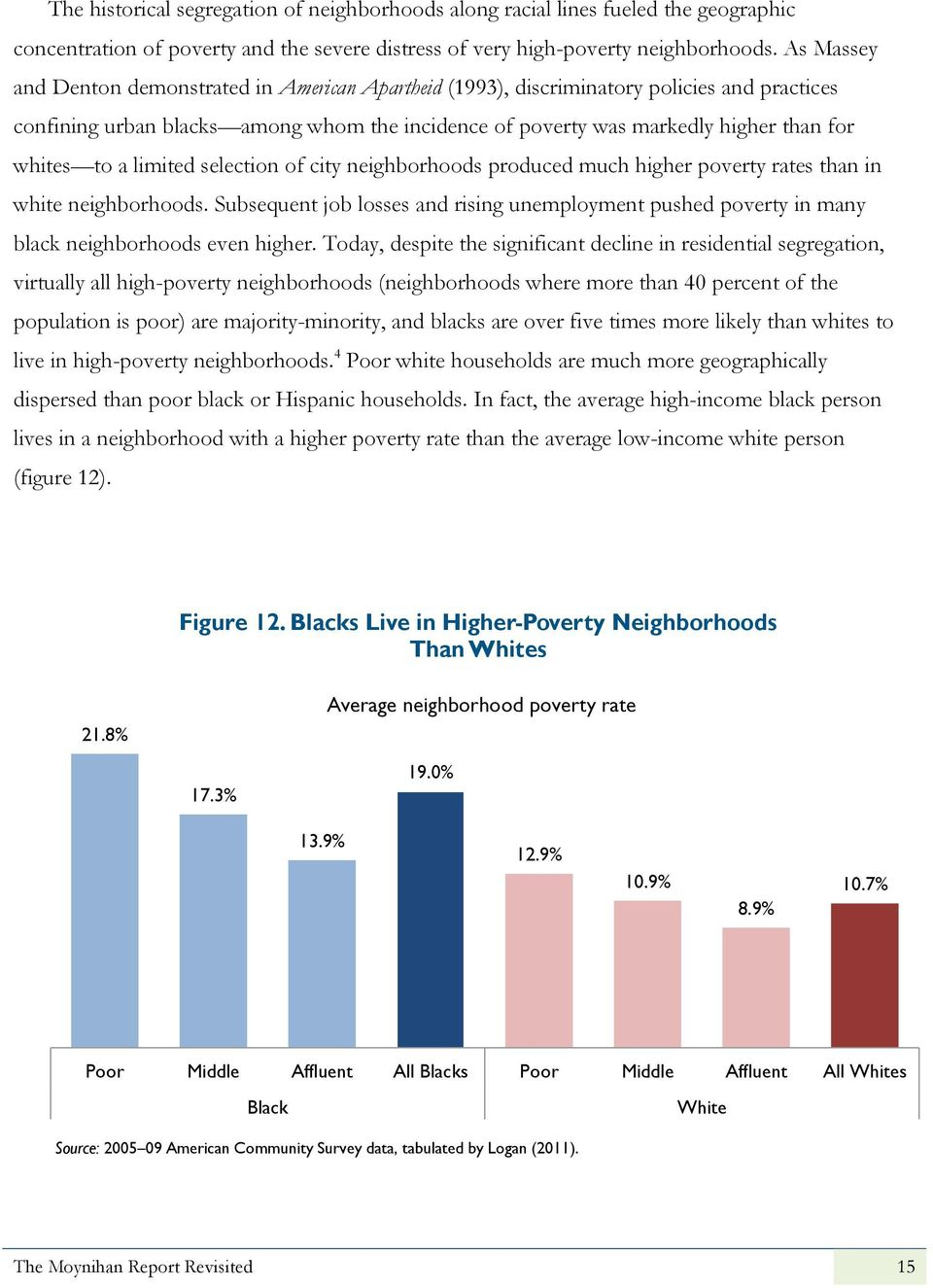 a limited selection of city neighborhoods produced much higher poverty rates than in white neighborhoods.