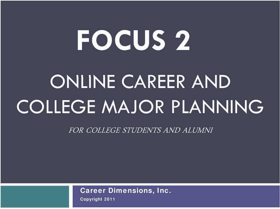 STUDENTS AND ALUMNI Career