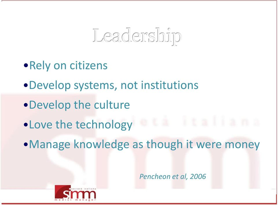 the technology Manage knowledge as