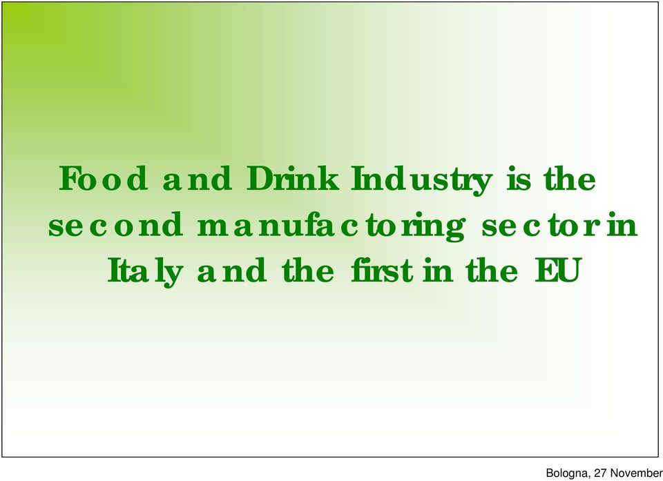 manufactoring sector