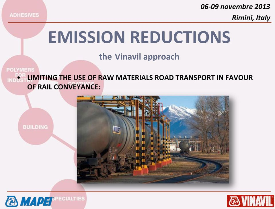 USE OF RAW MATERIALS ROAD
