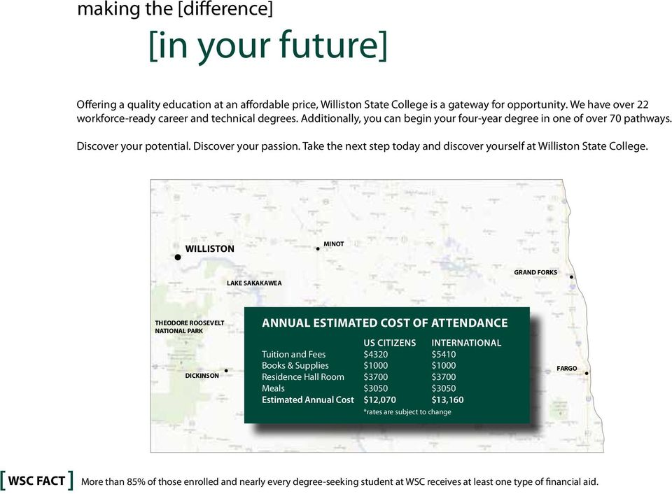 Take the next step today and discover yourself at Williston State College.