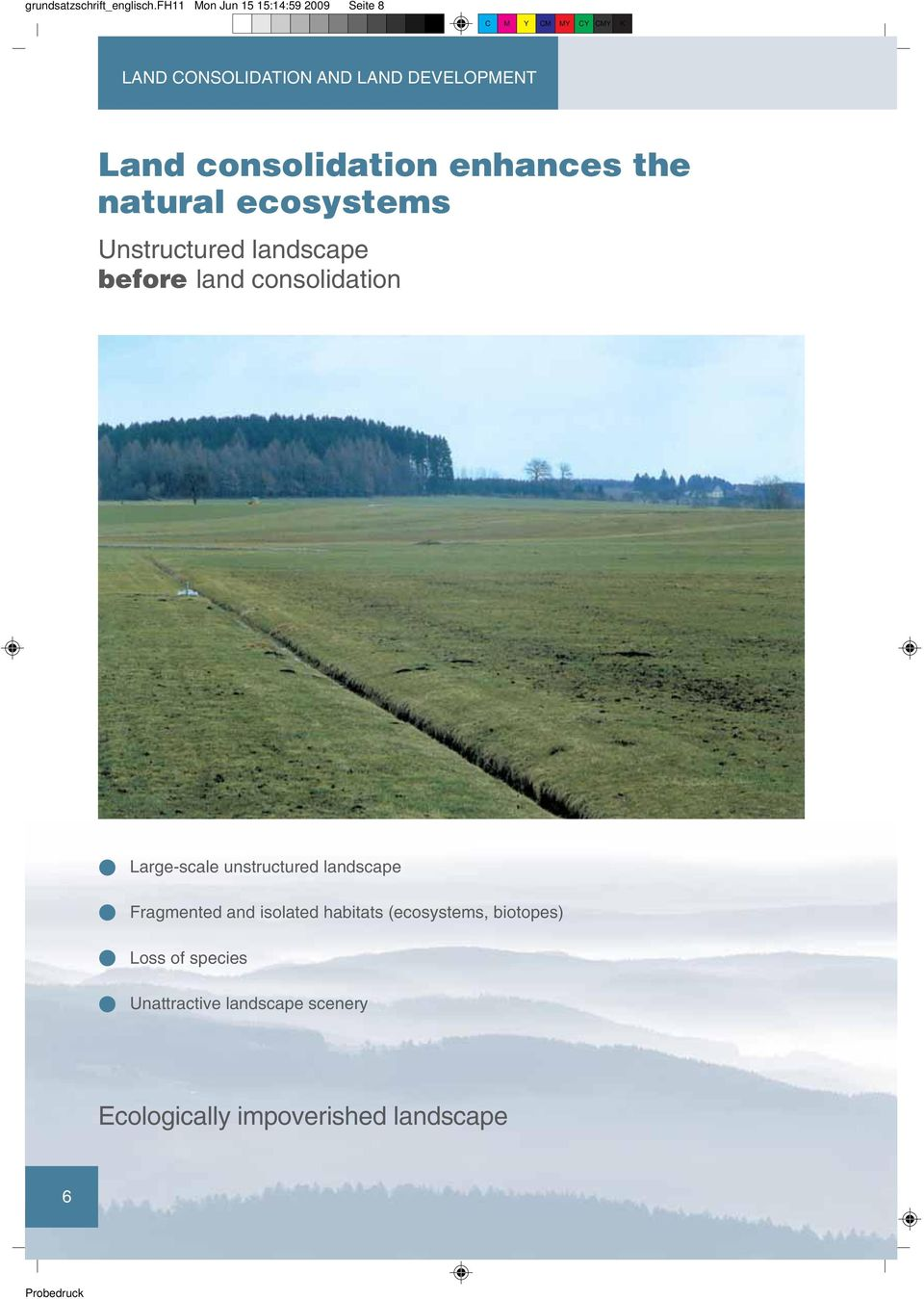 consolidation enhances the natural ecosystems Unstructured landscape before land consolidation