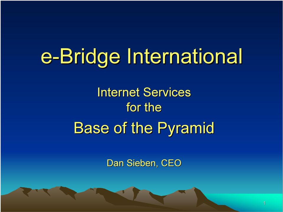 Internet Services for