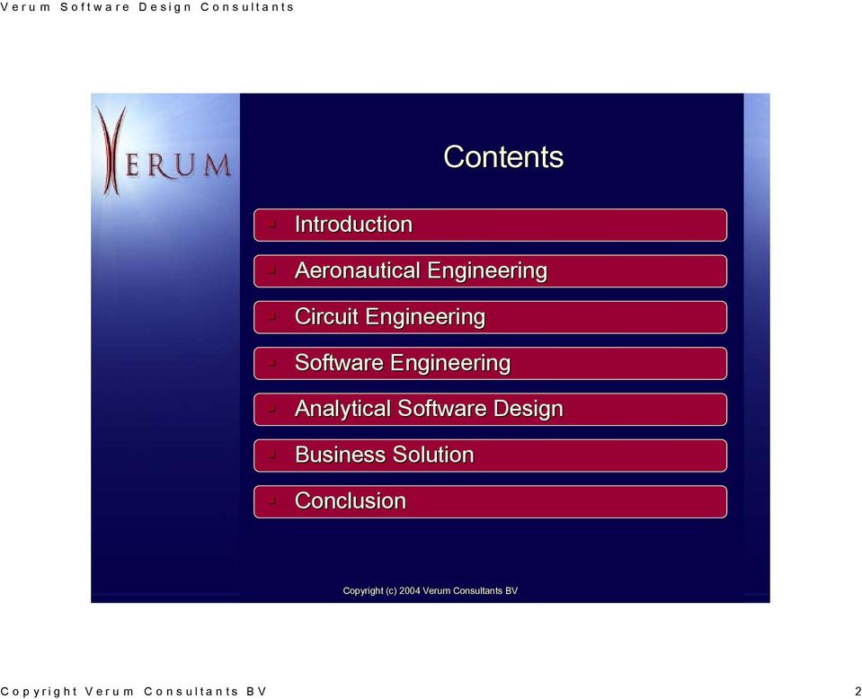 Engineering Analytical Software Design