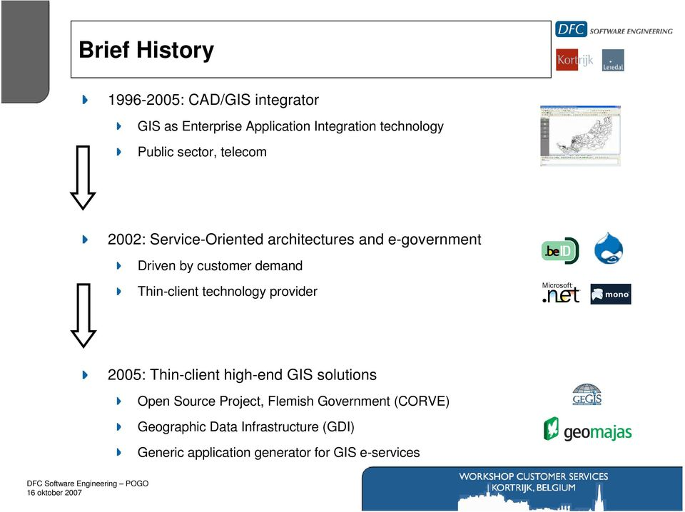 Thin-client technology provider 2005: Thin-client high-end GIS solutions Open Source Project, Flemish