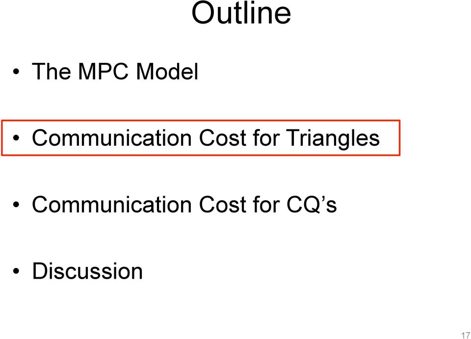 Triangles  CQ s