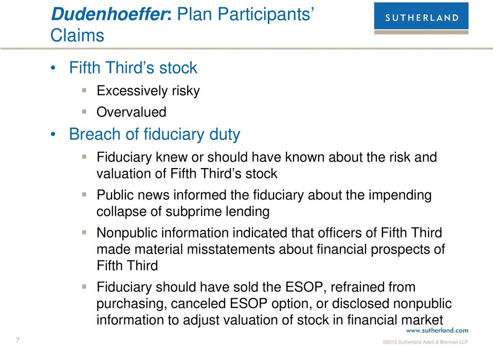 Nonpublic information indicated that officers of Fifth Third made material misstatements about financial prospects of Fifth Third Fiduciary should