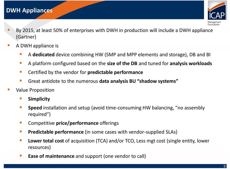"analysis BU shadow systems Value Proposition Simplicity Speed installation and setup (avoid time-consuming HW balancing, ""no assembly required ) Competitive price/performance offerings"